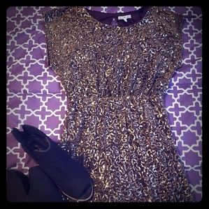 Gold sequence cocktail dress